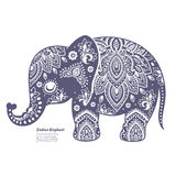 Vintage Indian elephant Stock Images