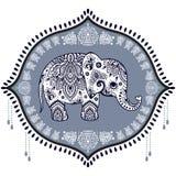 Vintage Indian elephant Stock Images