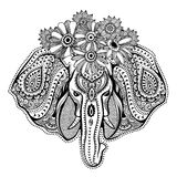 Vintage Indian elephant Stock Photo