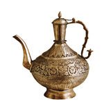 Vintage Indian teapot on a white background Stock Photography
