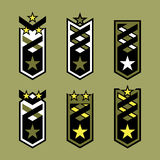 Set of military rank badges. Royalty Free Stock Photo