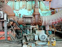 Vintage Industrial Equipment Stock Photo