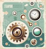 Vintage industrial info graphic. Stock Photography