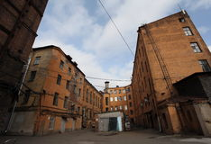 Free Vintage Industrial Red Brick Building In The Industrial Area Of The Old European City. Stock Image - 66299951