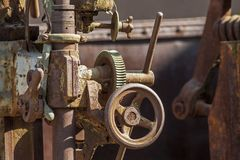 Vintage industrial valve close up stock photo