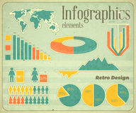 Vintage infographic elements Stock Photo