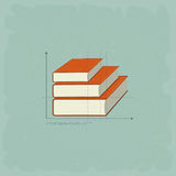 Vintage infographics Books Royalty Free Stock Photography