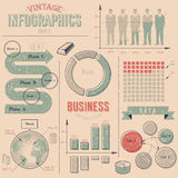 Vintage infographics design elements Stock Image