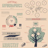 Vintage infographics design elements Royalty Free Stock Image