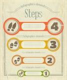 Vintage Infographics design Stock Image