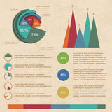 Vintage infographics set Royalty Free Stock Images
