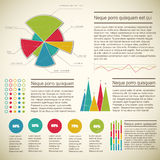 Vintage infographics set Royalty Free Stock Photography