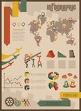 Vintage infographics set business concept Royalty Free Stock Photos
