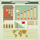Vintage infographics set - house construction Stock Image