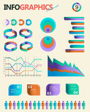 Vintage infographics set. Information Graphics. And chart Stock Photos