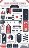 Vintage infographics Stock Photos