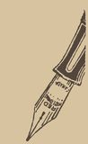 Vintage ink pen Stock Photography