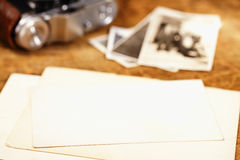 Vintage ink and  pen, old photos and camera Royalty Free Stock Photo