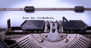 Vintage inscription made by old typewriter Royalty Free Stock Image