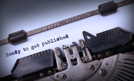 Vintage inscription made by old typewriter Royalty Free Stock Photography