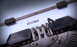 Vintage inscription made by old typewriter Stock Image
