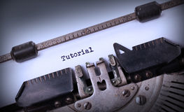Vintage inscription made by old typewriter Stock Images