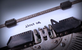 Vintage inscription made by old typewriter Royalty Free Stock Images