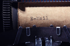 Vintage inscription made by typewriter Stock Image
