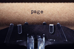 Vintage inscription made by typewriter Stock Images