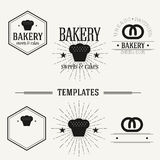 Vintage insignias and logotypes set. Royalty Free Stock Photography