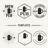 Vintage insignias and logotypes set. Stock Image