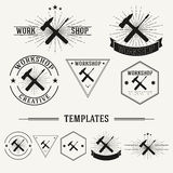 Vintage insignias and logotypes set. Stock Images