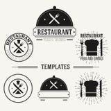 Vintage insignias and logotypes set. Royalty Free Stock Photo
