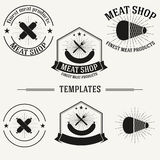 Vintage insignias and logotypes set. Royalty Free Stock Images