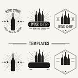 Vintage insignias and logotypes set. Retro insignias and logotypes set with elements and templates Royalty Free Stock Photo