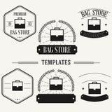 Vintage insignias and logotypes set. Retro insignias and logotypes set with elements and templates Royalty Free Stock Photography