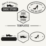Vintage insignias and logotypes set. Retro insignias and logotypes set with elements and templates Stock Photo