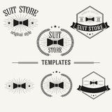 Vintage insignias and logotypes set. Retro insignias and logotypes set with elements and templates Royalty Free Stock Images