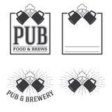 Vintage insignias and logotypes set. Royalty Free Stock Image