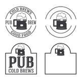 Vintage insignias and logotypes set. Retro insignias and logotypes set with elements and templates Royalty Free Stock Image