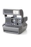 Vintage instant camera. Vintage instant photo camera on white background Royalty Free Stock Photos