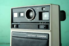 Vintage Instant Camera. Photo of an old, vintage instant camera Royalty Free Stock Image