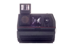 Vintage  instant camera. Vintage instant camera on white background Stock Photography