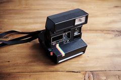 Vintage instant camera Stock Images