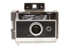 Vintage instant film camera. Isolated on a white background Royalty Free Stock Images