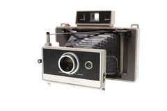 Vintage instant film camera Royalty Free Stock Photography