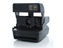 Vintage Instant film Camera. Isolated on a White Background Stock Photo