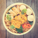 Vintage instant noodle Royalty Free Stock Images