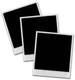 Vintage instant photo frame. S on white background Stock Images