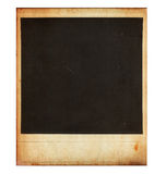 Vintage instant photo frame isolated on white Royalty Free Stock Image